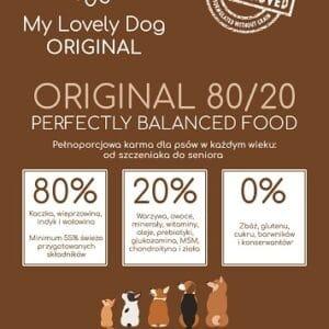 karma bez zbóż 80% mięsa